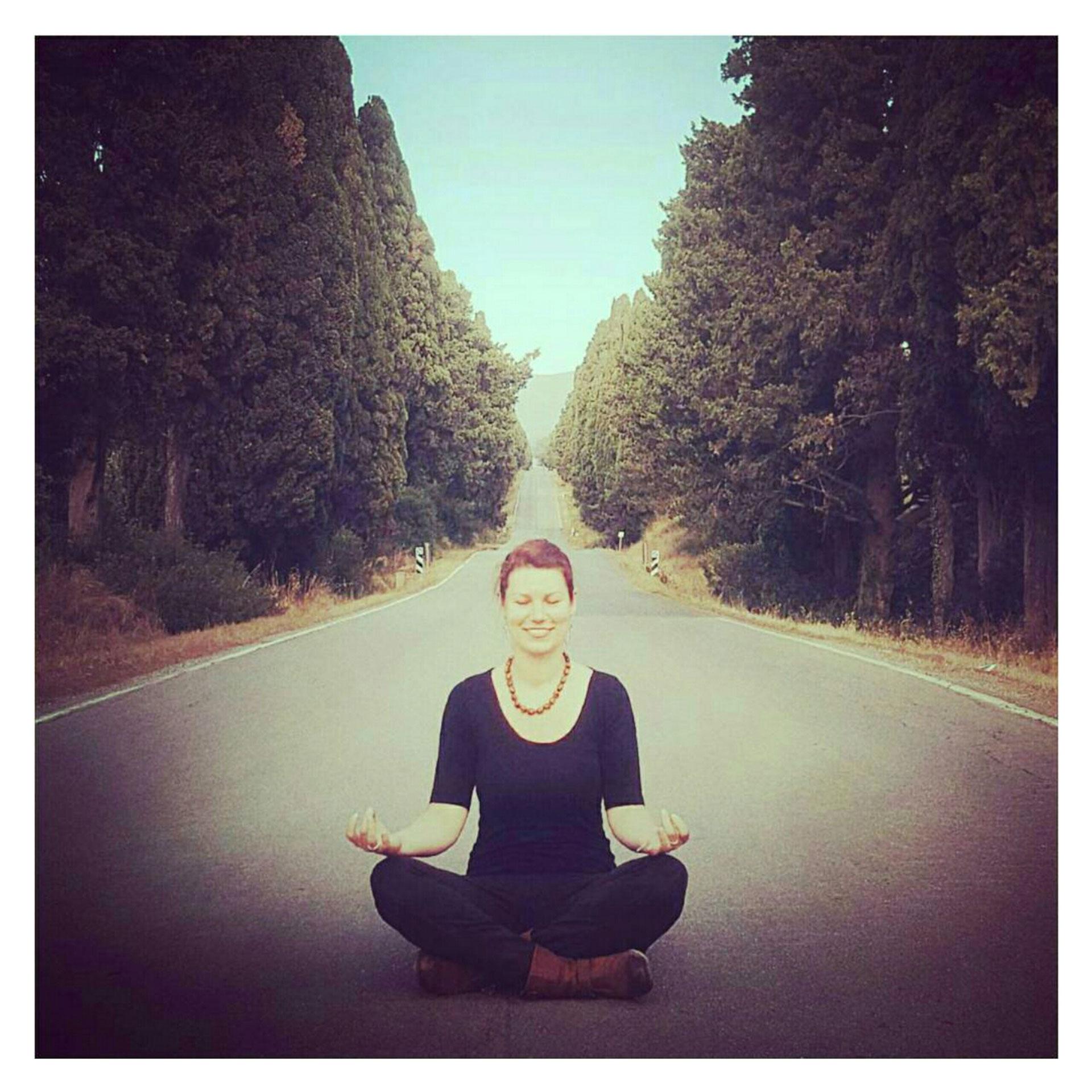 Ich beim Meditieren